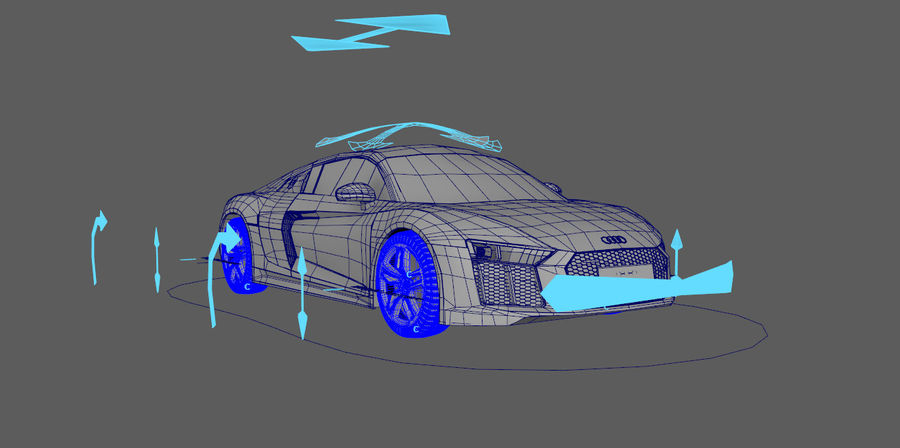 Audi R8 V10 royalty-free 3d model - Preview no. 2