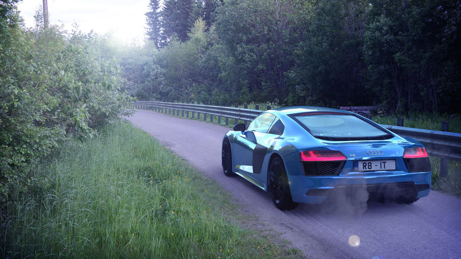 Audi R8 V10 royalty-free 3d model - Preview no. 1