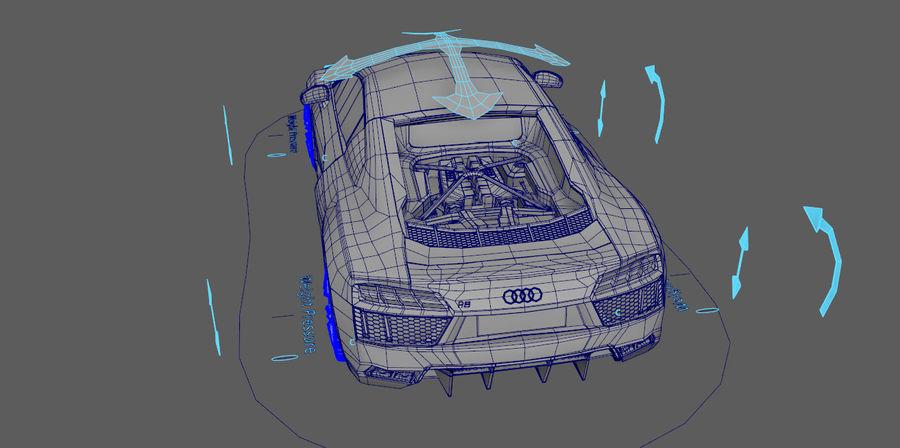 Audi R8 V10 royalty-free 3d model - Preview no. 5