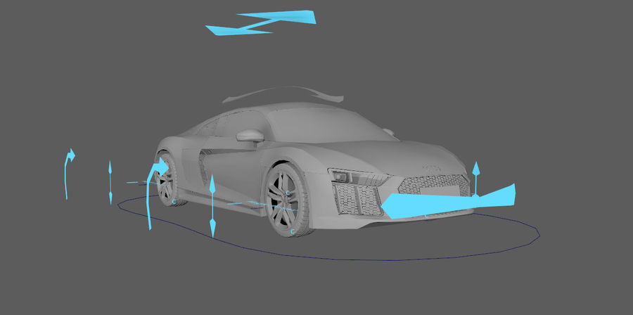 Audi R8 V10 royalty-free 3d model - Preview no. 3