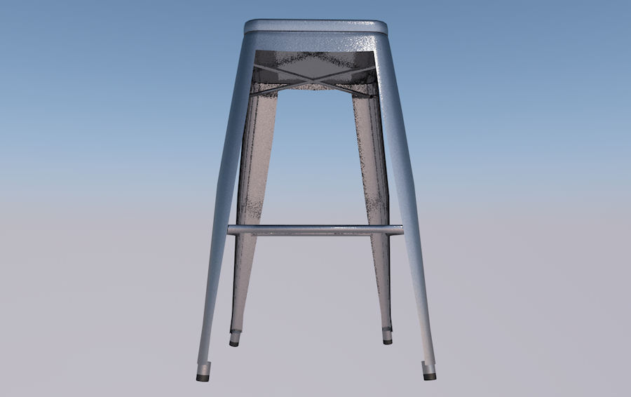 Barstol royalty-free 3d model - Preview no. 3