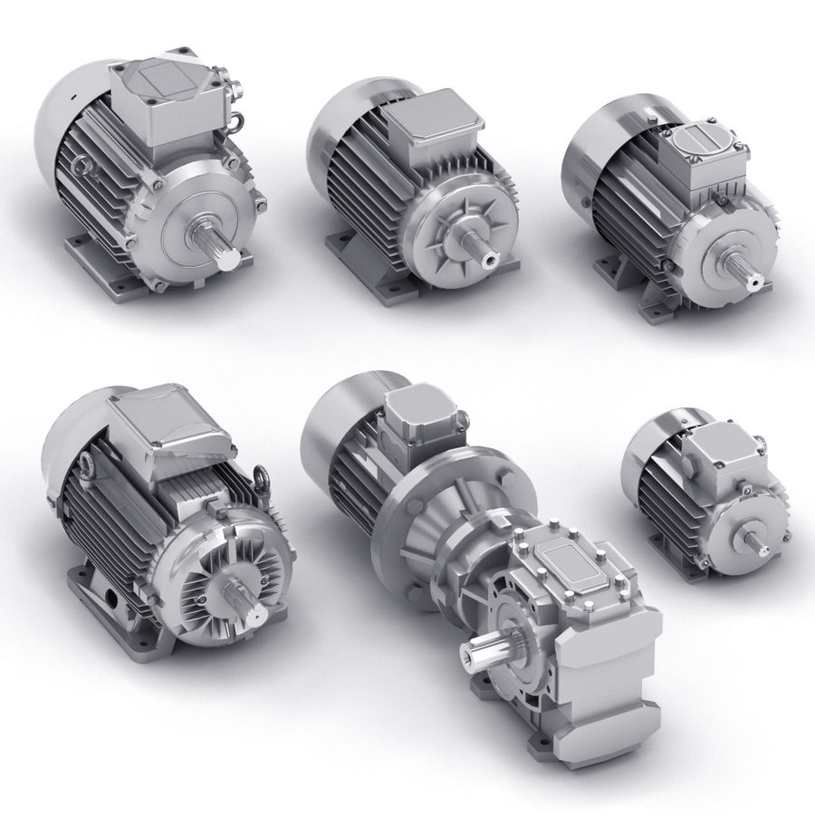 Electric Motor Pack royalty-free 3d model - Preview no. 1
