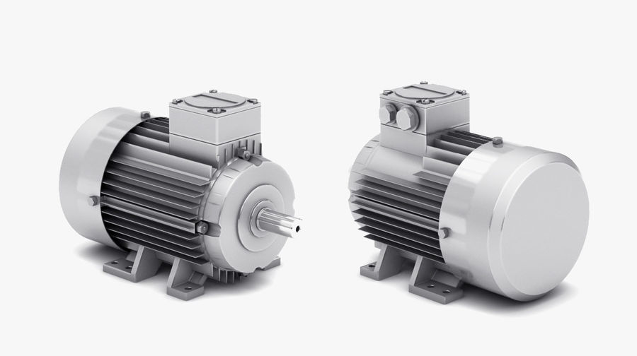 Electric Motor Pack royalty-free 3d model - Preview no. 5