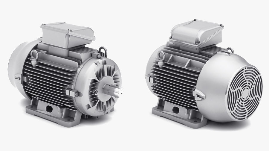 Electric Motor Pack royalty-free 3d model - Preview no. 6