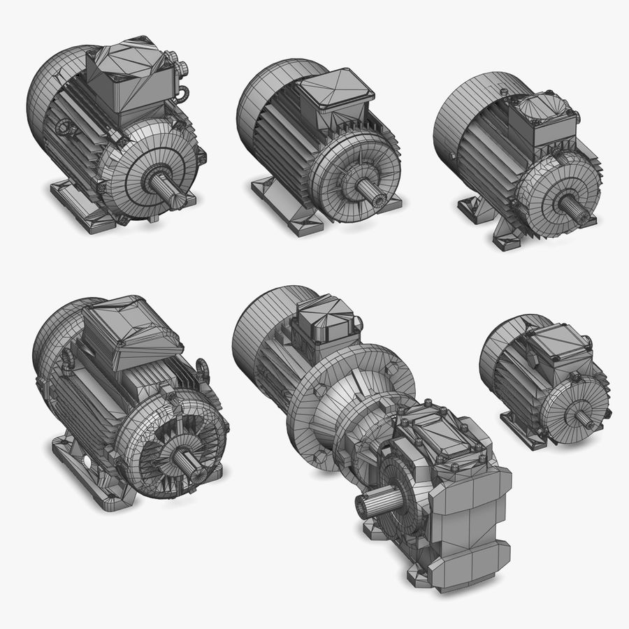 Electric Motor Pack royalty-free 3d model - Preview no. 2