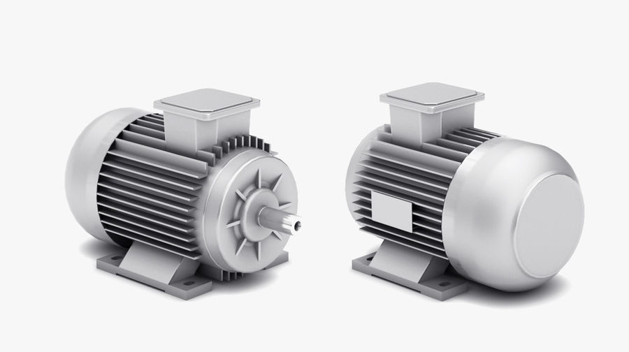 Electric Motor Pack royalty-free 3d model - Preview no. 4