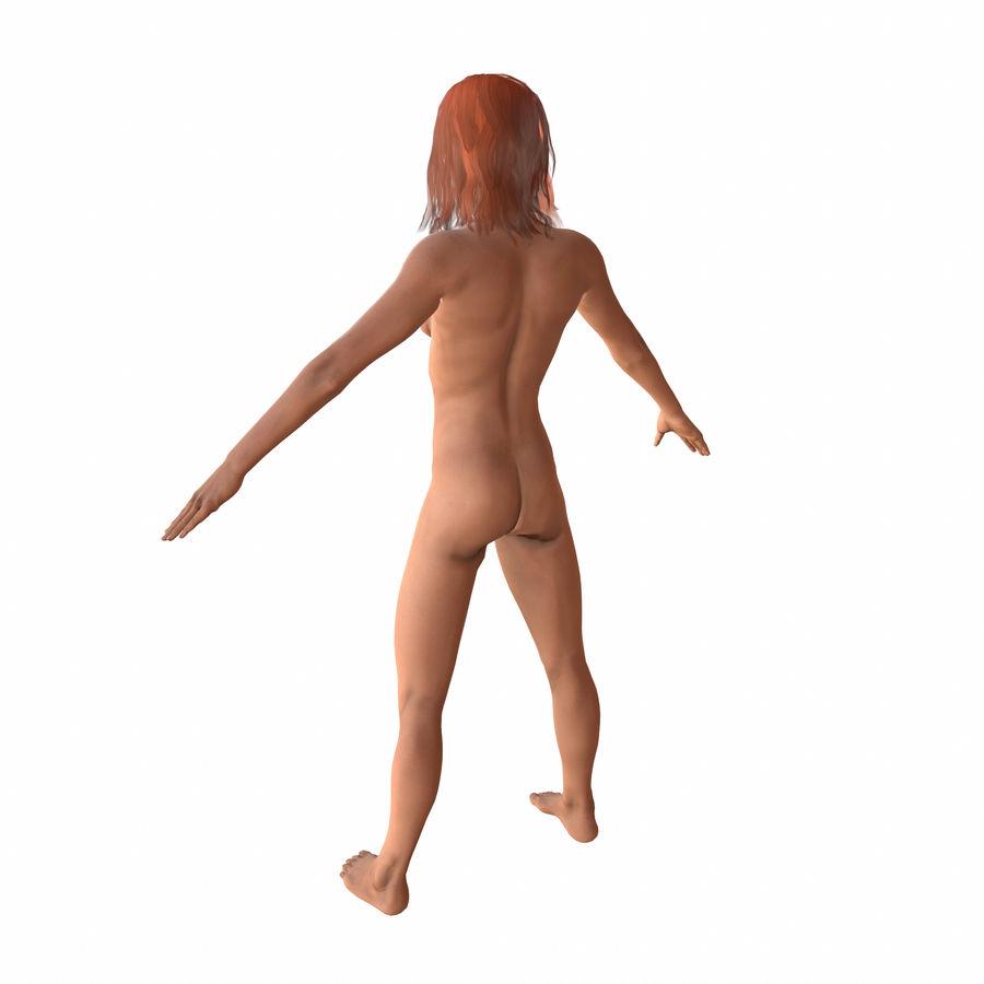 personaggio di bella donna (truccato) royalty-free 3d model - Preview no. 5