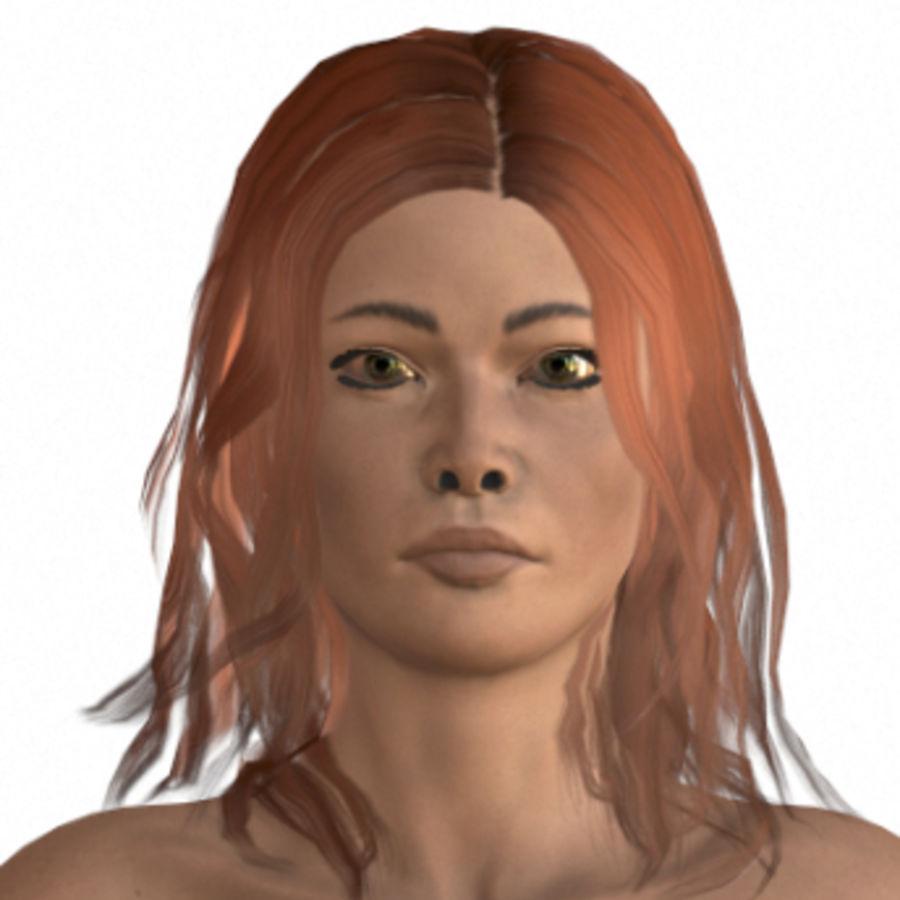 vacker kvinna karaktär (riggad) royalty-free 3d model - Preview no. 1