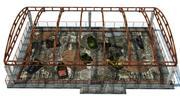 Abandoned bumper cars 3d model