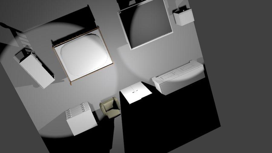 КОМПЛЕКТ МЕБЕЛИ royalty-free 3d model - Preview no. 4