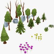 forêt basse poly 3d model