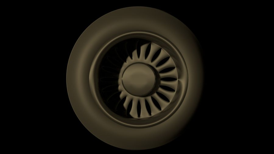 plane tire royalty-free 3d model - Preview no. 5