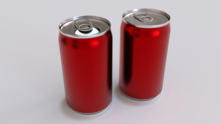 Soda Cans royalty-free 3d model - Preview no. 21