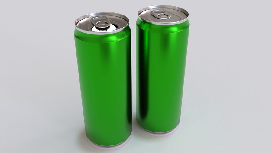 Soda Cans royalty-free 3d model - Preview no. 14