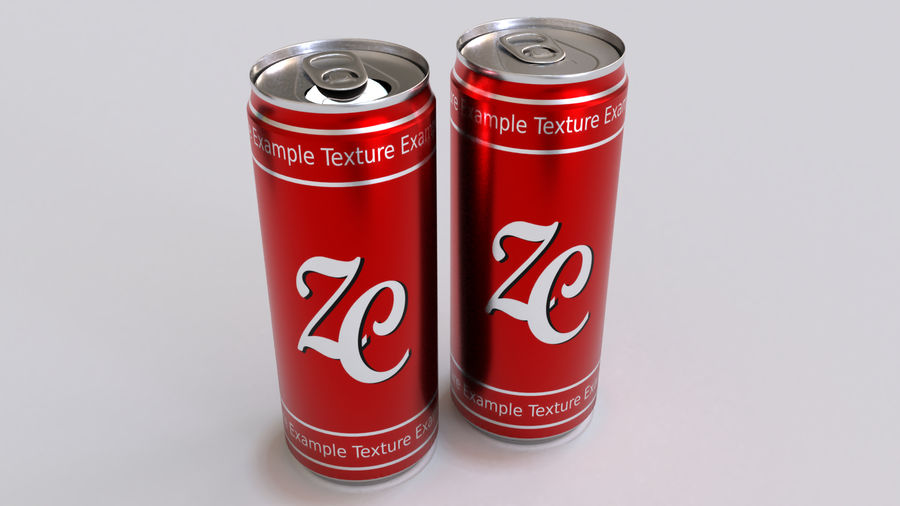 Soda Cans royalty-free 3d model - Preview no. 17