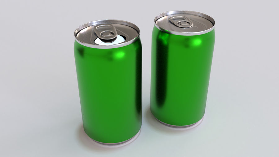 Soda Cans royalty-free 3d model - Preview no. 18
