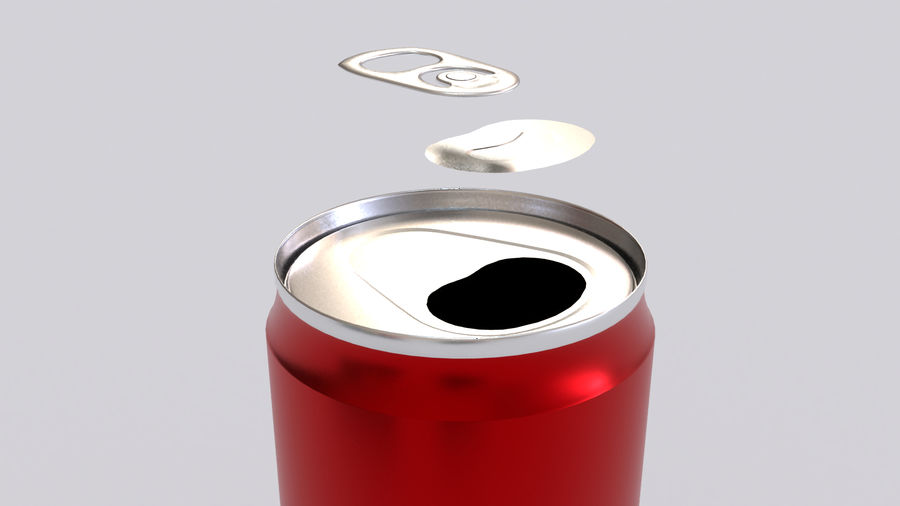 Soda Cans royalty-free 3d model - Preview no. 9