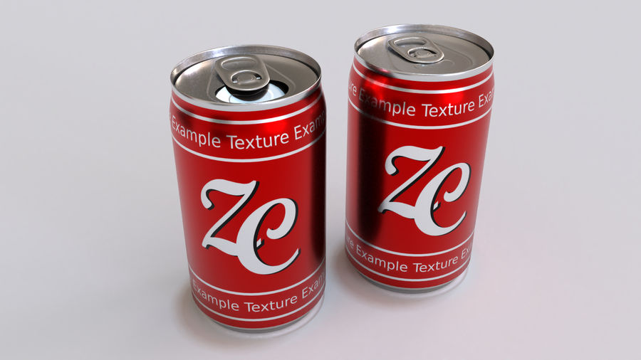 Soda Cans royalty-free 3d model - Preview no. 22