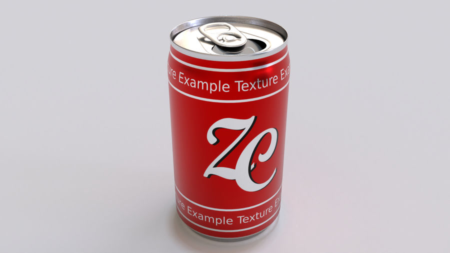 Soda Cans royalty-free 3d model - Preview no. 4