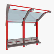 City Small Bus Stop 3d model