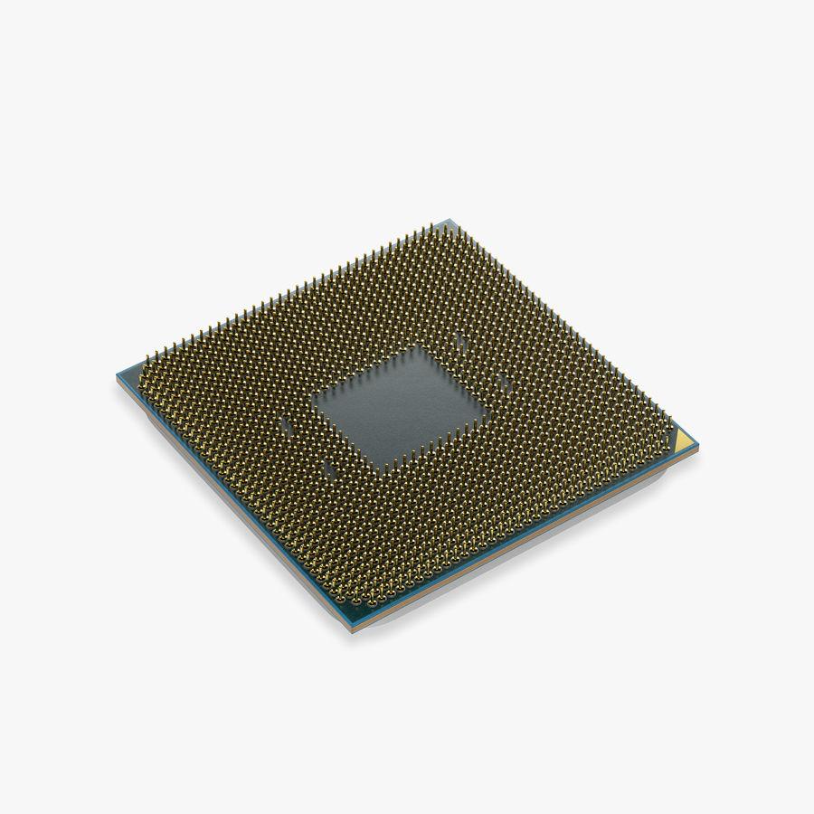 AMD Ryzen 7 2700X CPU royalty-free 3d model - Preview no. 2