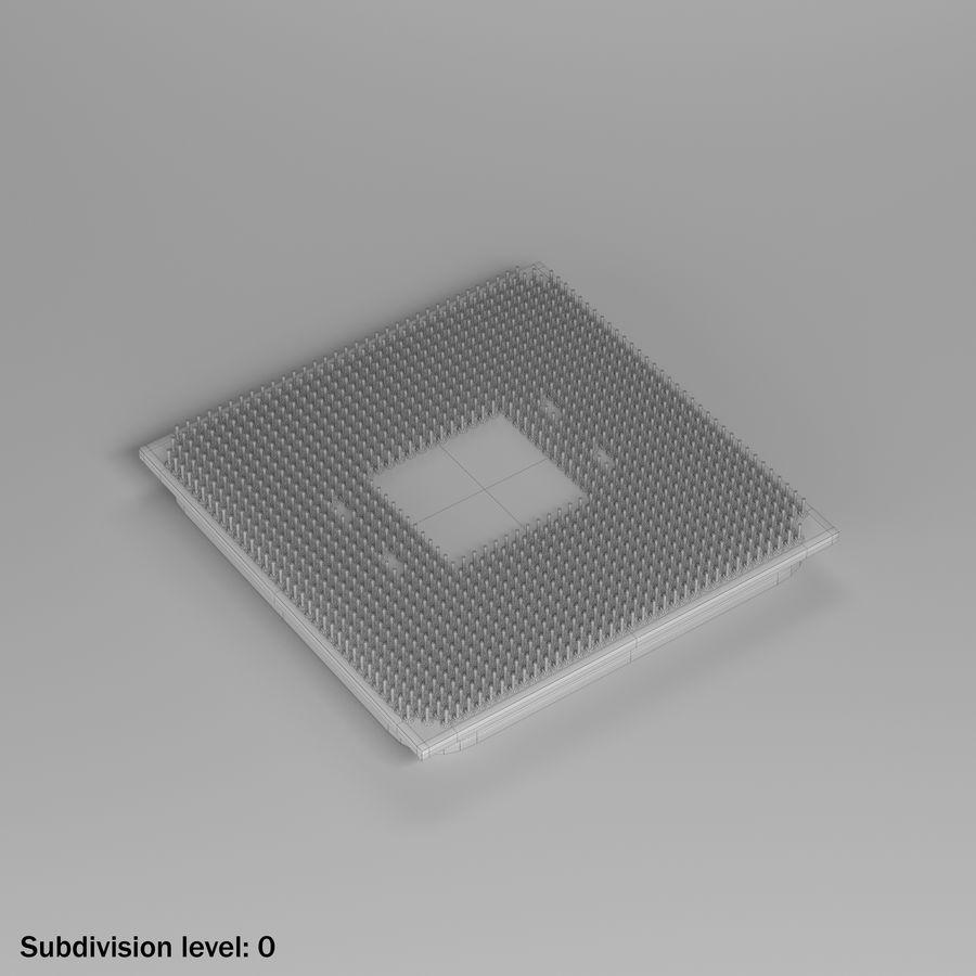 AMD Ryzen 7 2700X CPU royalty-free 3d model - Preview no. 5