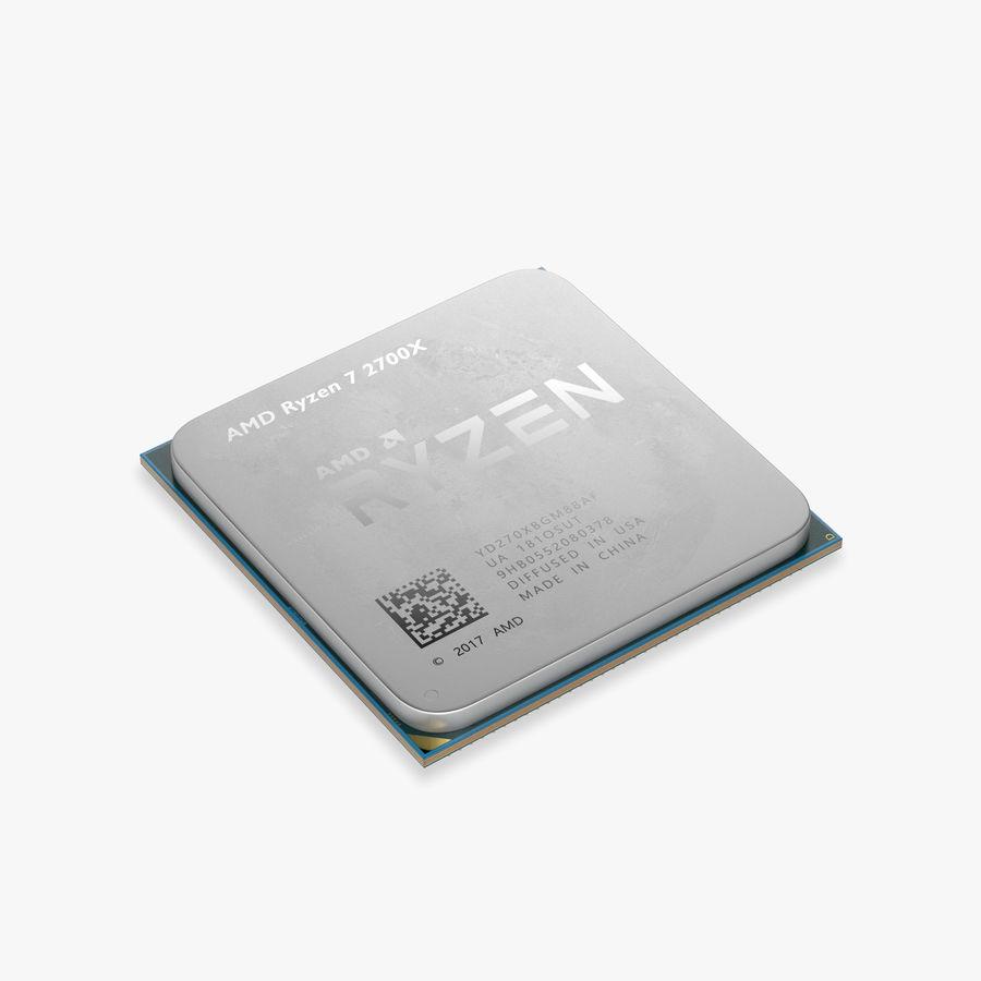 AMD Ryzen 7 2700X CPU royalty-free 3d model - Preview no. 1