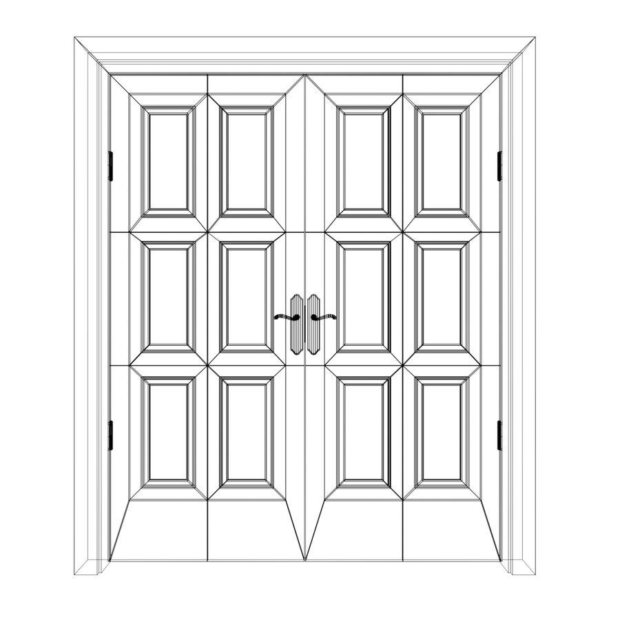 Çift kapı royalty-free 3d model - Preview no. 3