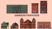 Amerikaanse pollypack voor stadsgebouwen 3d model