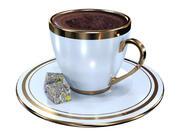 Турецкая кофейная чашка 3d model