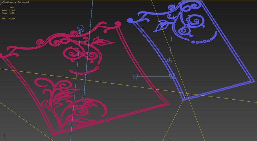 Ornamental design 3 royalty-free 3d model - Preview no. 7