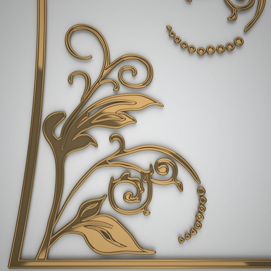 Ornamental design 3 royalty-free 3d model - Preview no. 5