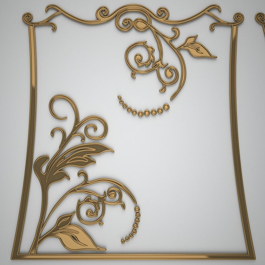 Ornamental design 3 royalty-free 3d model - Preview no. 1