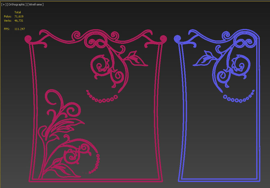Ornamental design 3 royalty-free 3d model - Preview no. 6