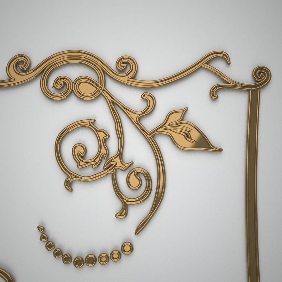 Ornamental design 3 royalty-free 3d model - Preview no. 4