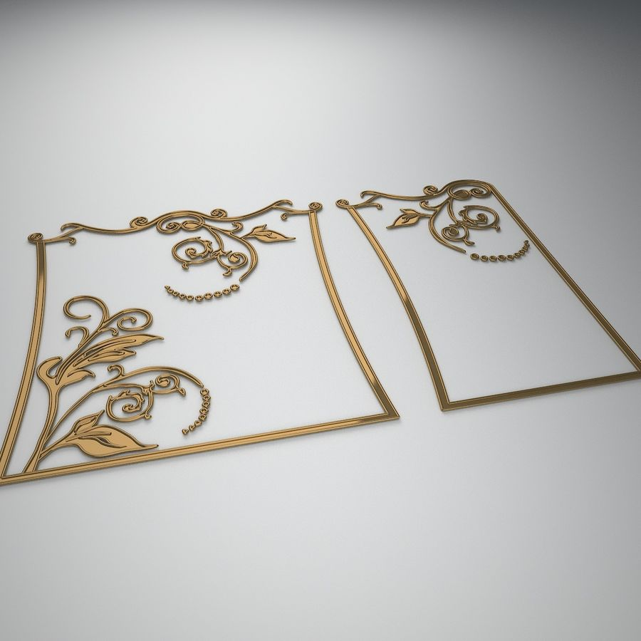 Ornamental design 3 royalty-free 3d model - Preview no. 2