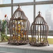 金属装飾バードハウスまたはケージ 3d model