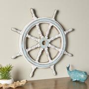 装飾的な木製船の車輪 3d model