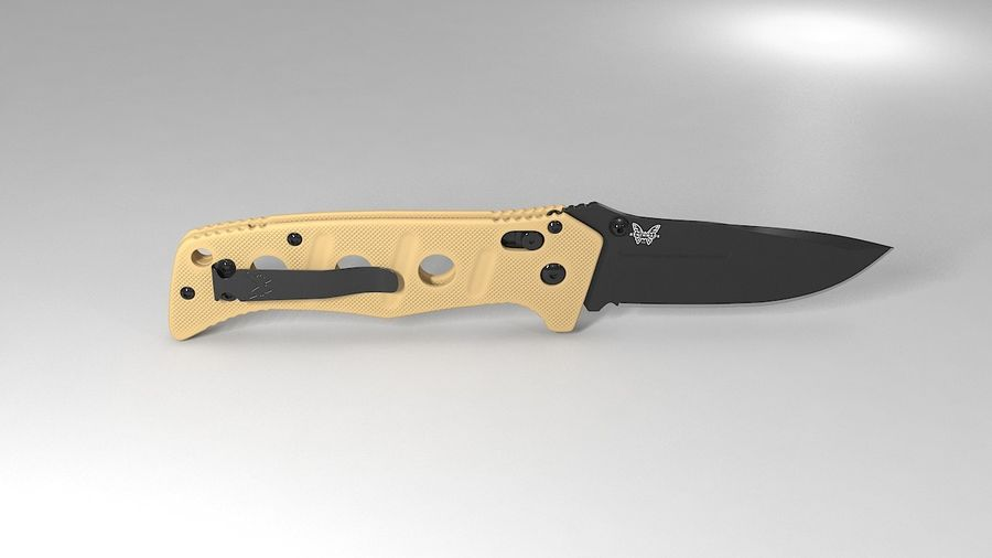 Pocket Knife royalty-free 3d model - Preview no. 7