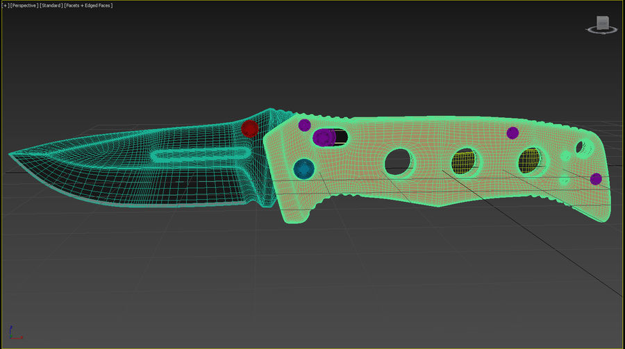Pocket Knife royalty-free 3d model - Preview no. 3