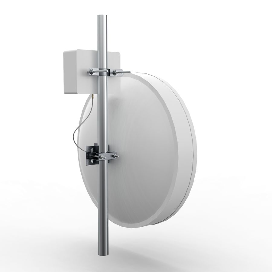 Wireless Antenna 60cm royalty-free 3d model - Preview no. 4