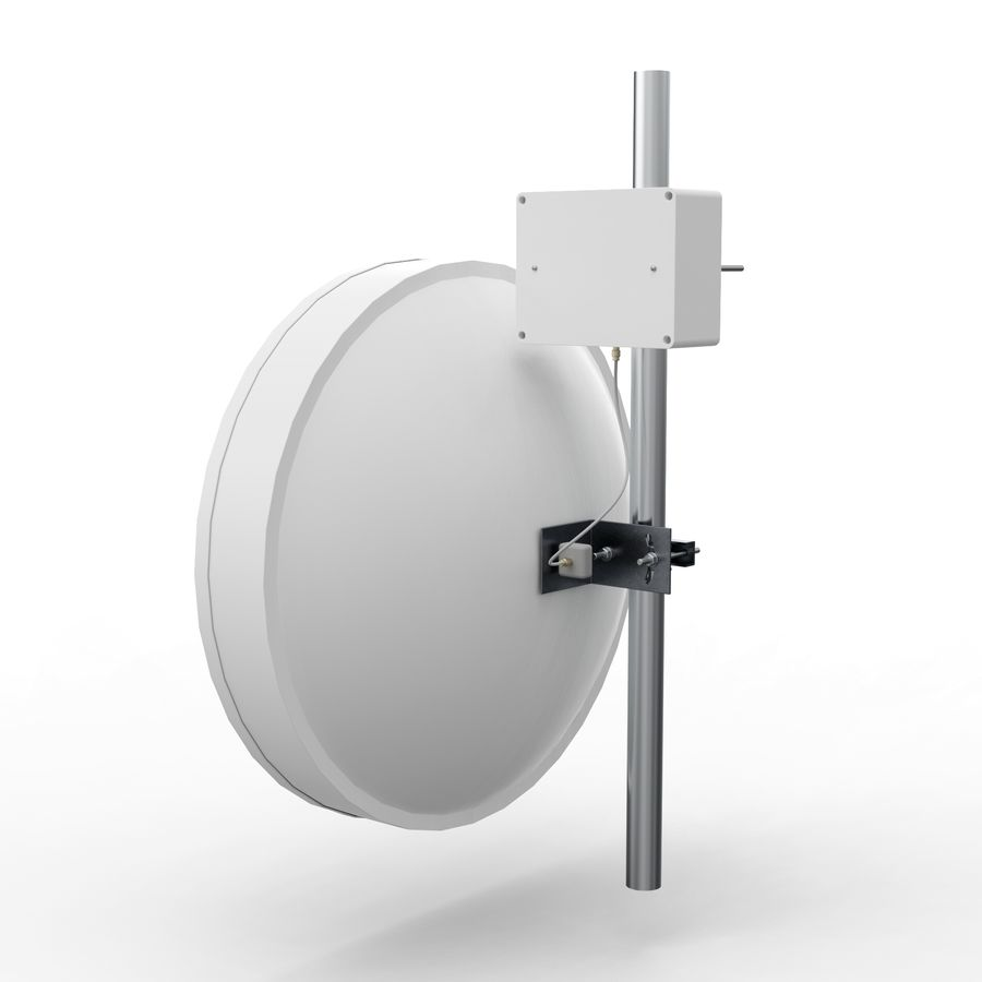 Wireless Antenna 60cm royalty-free 3d model - Preview no. 3