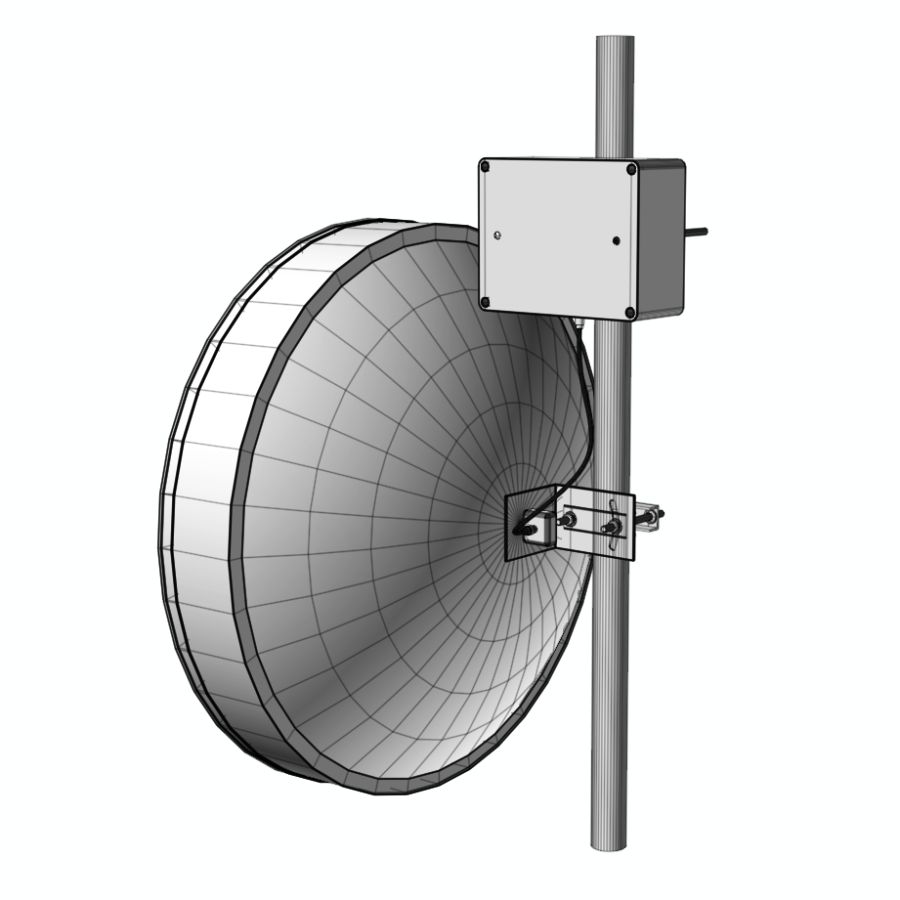 Wireless Antenna 60cm royalty-free 3d model - Preview no. 9