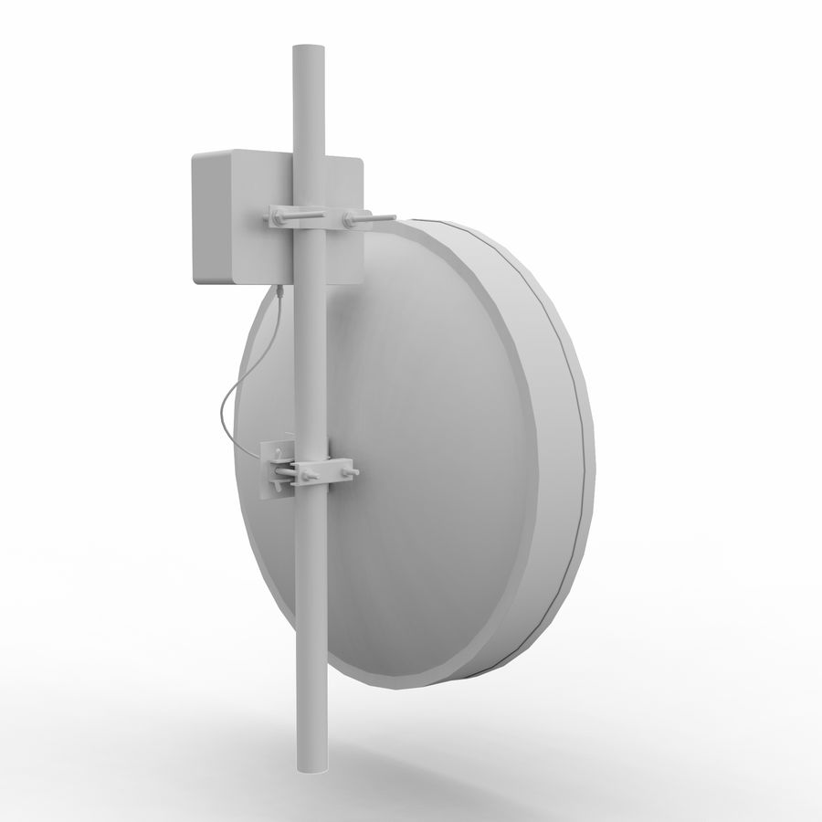 Wireless Antenna 60cm royalty-free 3d model - Preview no. 7