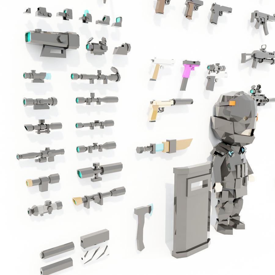 Nowoczesna kolekcja broni royalty-free 3d model - Preview no. 7