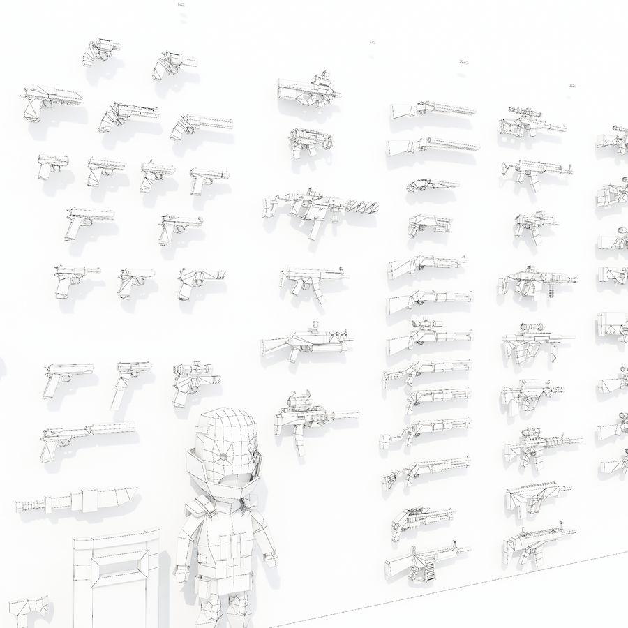 Nowoczesna kolekcja broni royalty-free 3d model - Preview no. 8