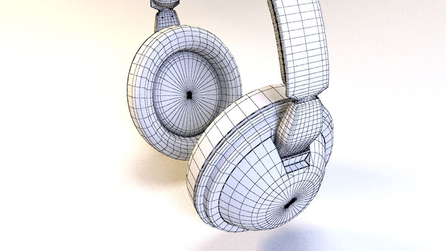 Full size headphones royalty-free 3d model - Preview no. 15