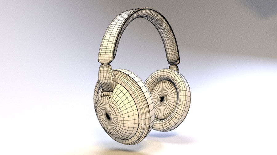 Full size headphones royalty-free 3d model - Preview no. 12