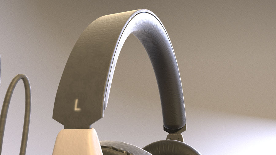 Full size headphones royalty-free 3d model - Preview no. 6