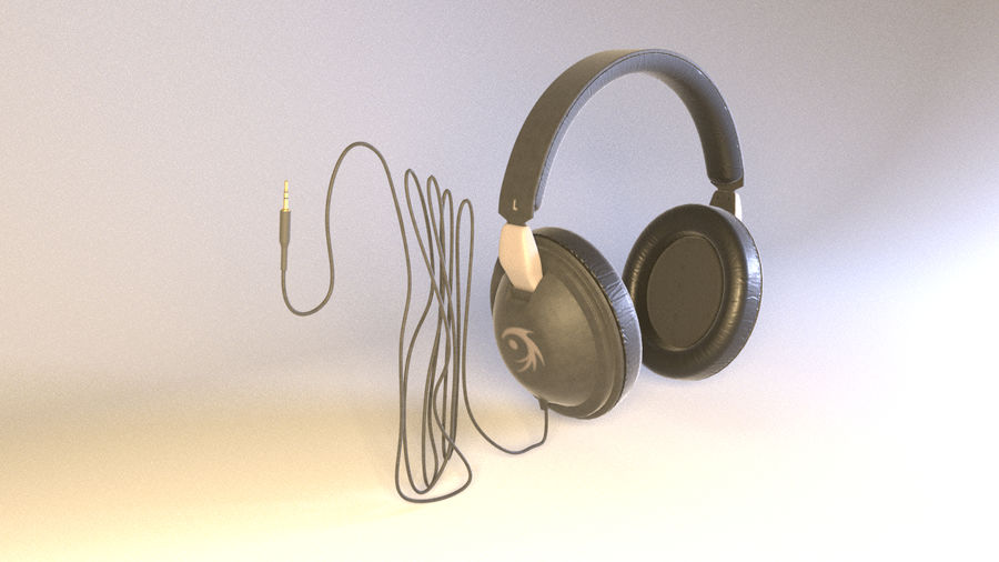 Full size headphones royalty-free 3d model - Preview no. 3